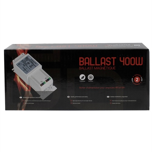 BALLAST MAGNETIQUE COMPACT 400W PACKAGE FLORASTAR