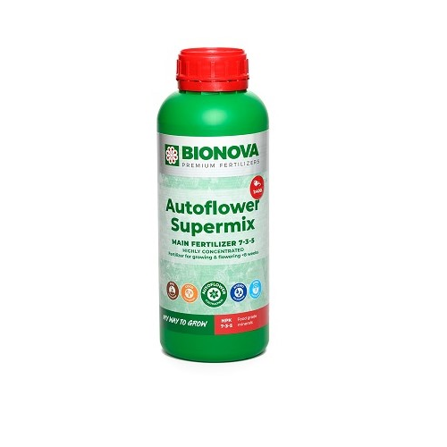 BIONOVA AUTOFLOWER SUPERMIX 1L - engrais all in one pour plantes à floraison automatique