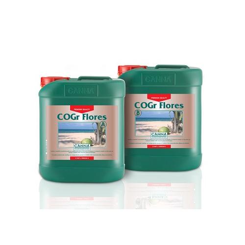 CANNA COGR FLORES A PLUS B 5L - engrais de floraison pour culture sur pains de coco