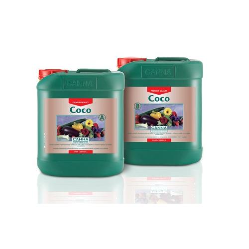 COCO CANNA A PLUS B 5L - engrais croissance et floraison cultures à développment rapide