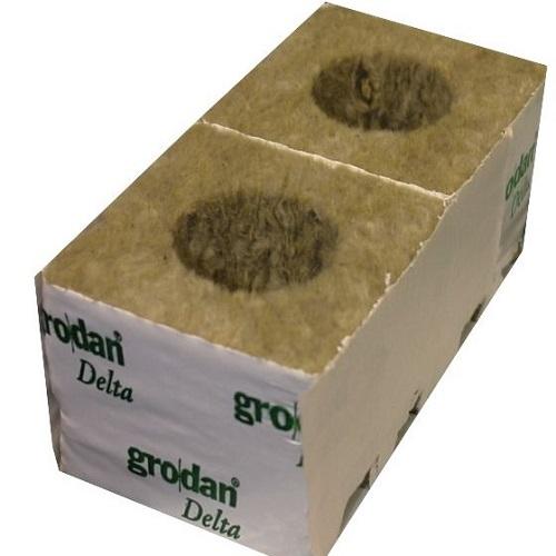 CUBE LAINE DE ROCHE DELTA GRODAN - cube de bouturage - substrat hydroponie