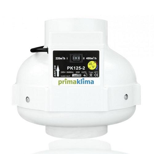 Extracteur 2 vitesses OVNI 220 et 440m3/h - Ø125mm - Prima Klima