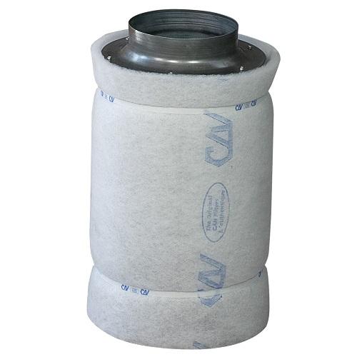 Filtre à charbon actif Can-Lite™ 800m³/h - corps du filtre métal - flange 200mm