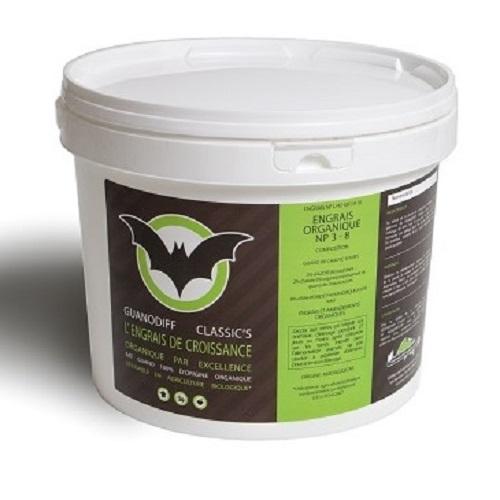Guanodiff Classic's 2kg - GUANO DIFFUSION - engrais organique à base de guano de chauve souris