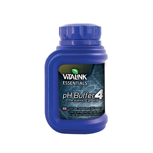 PH BUFFER 4 250ML VITALINK - solution étalonnage pH mètre