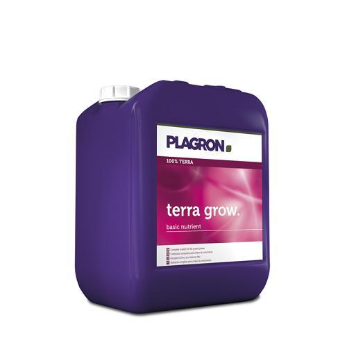 PLAGRON TERRA GROW 5L - engrais minéral liquide de croissance pour culture en terre