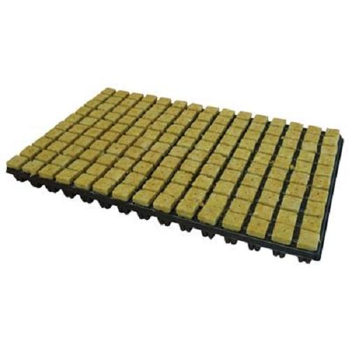 PLATEAU 150 BOUCHONS LAINE DE ROCHE - substrat germination en hydroponie