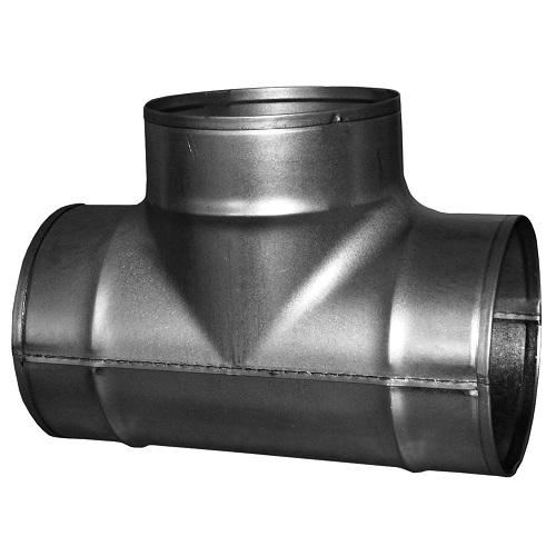 raccord de gaine en T de diamètre 125mm pour gaines de ventilation