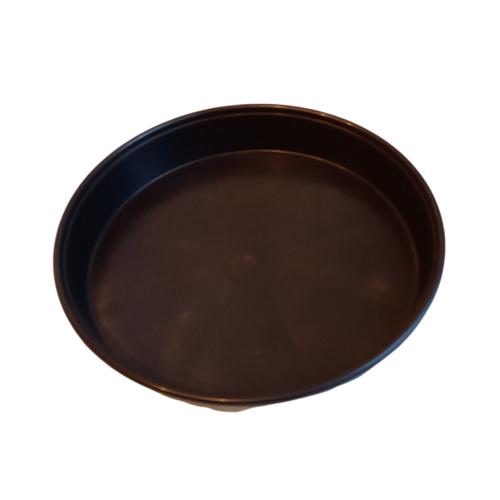 Soucoupe ronde 35cm diamètre - noire - sous pot
