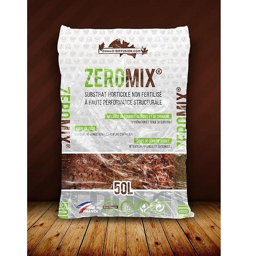 ZERO MIX 50L GUANO DIFFUSION substrat non fertilisé compatible agriculture biologique