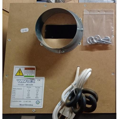 Caisson extracteur 250m3/h insonorisé SONOBOX - 35x35 cm - Ø 125mm - Winflex