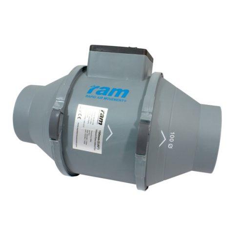 Extracteur linéaire double vitesse 199 m3/h - Ø 100mm - RAM
