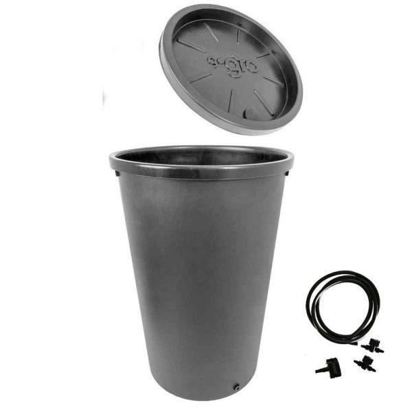 Réservoir et couvercle 45L - muni d'un oeillet 6mm - Gogro