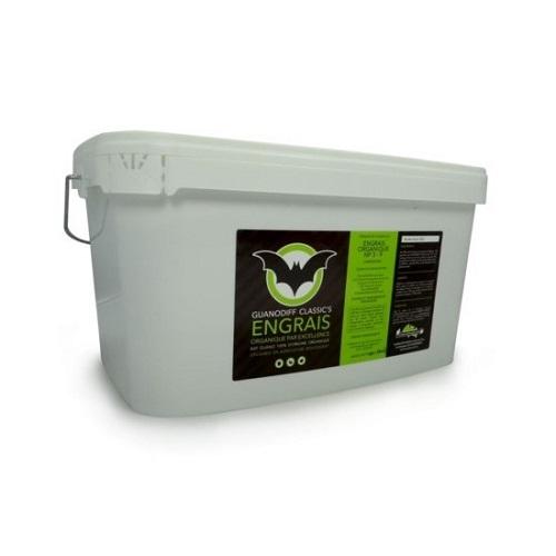 GUANODIFF CLASSICS 6.2KG 10L - engrais organique d'excellence à base de guano de chauve souris