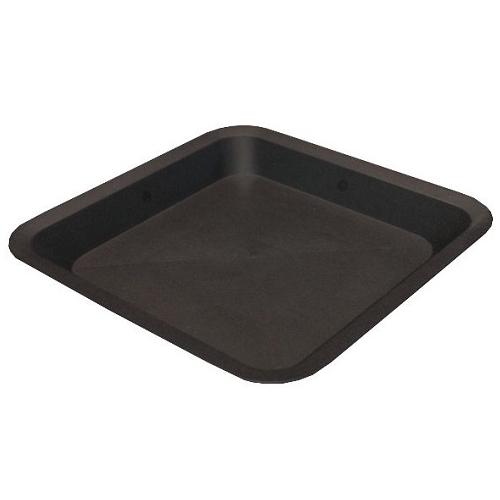 Soucoupe carrée 23cm x 23cm - noire
