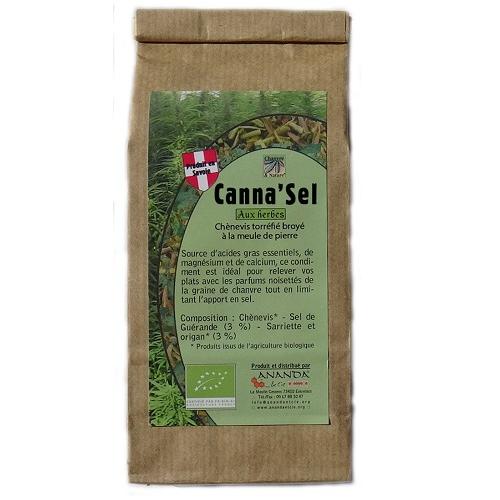 CANNA SEL AUX HERBES 150G ANANDA - chènevis torréfié et broyé avec sel origan et sarriette