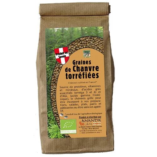 Graines de chanvre torréfiées en sachet 200g - label ECOCERT - ANANDA