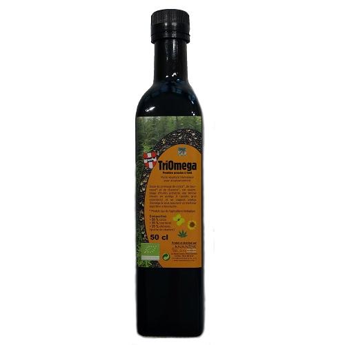 Triomega - mélange huiles de colza tournesol et chanvre -label ecocert