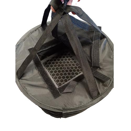 Séchoir fermé ventilé avec filtre à charbon - vue de dessus