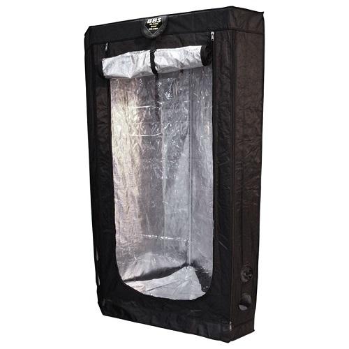 Box de culture d'angle Black Box Silver vue de côté